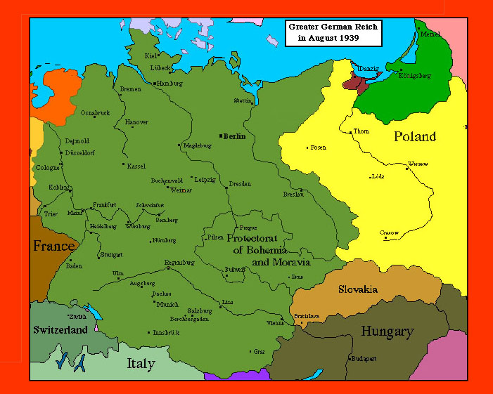 Map Of Germany 1939.Wwii Maps