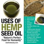Uses of Hemp Seed Oil